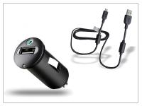Sony Ericsson gyári USB szivargyújtós töltő adapter  +  micro USB adatkábel   5V 1 2A   AN400 (csomagolás nélküli) eladó