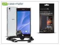 Sony Xperia Z2 (D6503) hátlap (clear)  +  képernyővédő fólia  +  AN401 szivargyújtós töltő micro USB adatkábellel   Case Mate 3in1 eladó