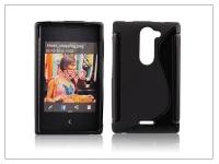 Nokia Asha 502 szilikon hátlap   S Line   fekete eladó