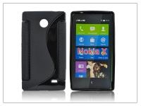 Nokia X X +  szilikon hátlap   S Line   fekete eladó