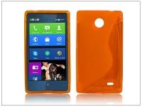 Nokia X X +  szilikon hátlap   S Line   narancs eladó