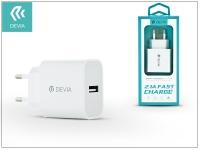 Devia Smart USB hálózati töltő adapter   Devia Smart USB Fast Charge   5V 2 1A   white eladó