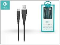USB   micro USB adat  és töltőkábel 1 5 m es vezetékkel   Devia Fish1 Flexible Cable for Android 2 4   black eladó