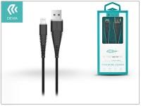 Apple iPhone 5 5S 5C SE iPad 4 iPad Mini USB töltő  és adatkábel 1 5 m es vezetékkel   Devia Fish1 Flexible Lightning USB 2 4   black eladó