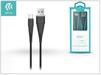 Devia USB töltő  és adatkábel 1 5 m es vezetékkel   Devia Fish1 Flexible Type C USB 2 4   black eladó