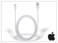 Apple iPhone 5 5S 5C SE iPad 4 iPad Mini eredeti  gyári USB töltő  és adatkábel 1 m es vezetékkel   Lightning   MD818ZM A eladó