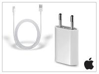 Apple iPhone 5 5S 5C SE 6S 6S Plus USB hálózati töltő adapter  +  lightning adatkábel   MD813ZM A  +  MD818ZM A   5V 1A (csomagolás nélküli) eladó