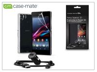 Sony Xperia Z1 (C6903) hátlap (clear)  +  képernyővédő fólia  +  AN401 szivargyújtós töltő micro USB adatkábellel   Case Mate 3in1 eladó
