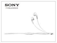 Sony Xperia gyári sztereó felvevős J B  szett   3 5 mm jack   MH410C white (csomagolás nélküli) eladó