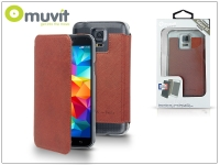 Samsung SM G900 Galaxy S5 flipes tok   Muvit Crystal Folio   brown eladó