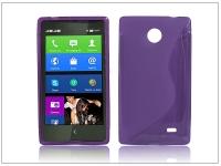 Nokia X X +  szilikon hátlap   S Line   lila eladó