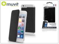 Apple iPhone 6 Plus 6S Plus hátlap   Muvit Crystal Folio   black eladó