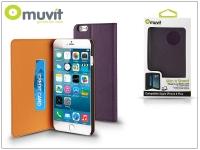 Apple iPhone 6 Plus 6S Plus flipes tok kártyatartóval   Muvit Slim and Stand   lila eladó