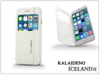 Apple iPhone 6 flipes tok   Kalaideng Iceland 2 Series View Cover   white eladó
