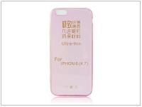 Apple iPhone 6 6S szilikon hátlap   Ultra Slim 0 3 mm   pink eladó