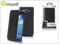 Samsung SM G920 Galaxy S6 flipes tok   Muvit Crystal Folio Croco   black eladó
