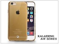 Apple iPhone 6 Plus szilikon hátlap üveg képernyővédó fóliával   Kalaideng Air Series   gold eladó