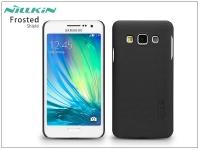 Samsung SM A300F Galaxy A3 hátlap képernyővédő fóliával   Nillkin Frosted Shield   fekete eladó