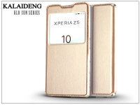 Sony Xperia Z5 (E6653) flipes tok   Kalaideng Sun Series View Cover   golden eladó
