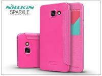 Samsung A710F Galaxy A7 (2016) oldalra nyíló flipes tok   Nillkin Sparkle   pink eladó