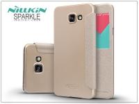 Samsung A710F Galaxy A7 (2016) oldalra nyíló flipes tok   Nillkin Sparkle   golden eladó