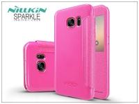 Samsung G930F Galaxy S7 oldalra nyíló flipes tok   Nillkin Sparkle   pink eladó