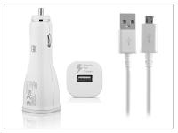 Samsung gyári USB szivargyújtós töltő adapter  +  micro USB adatkábel   5V 2A   EP LN915U + ECB DU4AWE EWE white (csomagolás nélküli) eladó