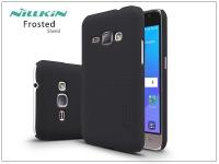 Samsung J120F Galaxy J1 (2016) hátlap képernyővédő fóliával   Nillkin Frosted Shield   fekete eladó