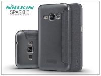 Samsung J120F Galaxy J1 (2016) oldalra nyíló flipes tok   Nillkin Sparkle   fekete eladó
