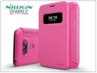 LG G5 H850 oldalra nyíló flipes tok   Nillkin Sparkle   pink eladó
