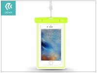 Univerzális vízálló védőtok max  5 5 &quot  méretű készülékekhez   Devia Ranger Fluorescence Waterproof Bag   green eladó