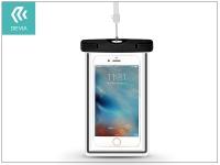Univerzális vízálló védőtok max  5 5 &quot  méretű készülékekhez   Devia Ranger Fluorescence Waterproof Bag   black eladó