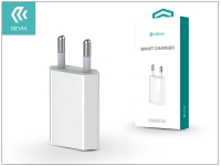 USB hálózati töltő adapter   Devia Smart Charger   5V 1A   white eladó