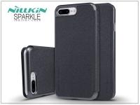 Apple iPhone 7 Plus oldalra nyíló flipes tok   Nillkin Sparkle   fekete eladó