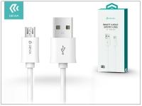USB   micro USB adat  és töltőkábel 1 m es vezetékkel   Devia Smart Cable   white eladó
