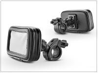 Univerzális kerékpárra motorkerékpárra szerelhető  por  és cseppálló telefontartó   L méret   fekete (iPhone 5 SE 6 7) eladó