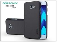 Samsung A720F Galaxy A7 (2017) hátlap képernyővédő fóliával   Nillkin Frosted Shield   fekete eladó