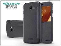 Samsung A720F Galaxy A7 (2017) oldalra nyíló flipes tok   Nillkin Sparkle   fekete eladó