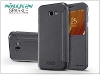 Samsung A320F Galaxy A3 (2017) oldalra nyíló flipes tok   Nillkin Sparkle   fekete eladó