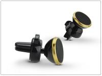 Univerzális szellőzőrácsba illeszthető mágneses PDA GSM autós tartó   állítható fejjel   gold eladó
