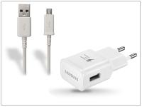 Samsung gyári USB hálózati töltő adapter  +  micro USB adatkábel   5V 2A   EP TA20EWE  +  ECB DU4AWE EWE white (csomagolás nélküli) eladó
