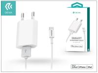 Apple iPhone 5 5S 5C SE 6S 6S Plus USB hálózati töltő adapter  +  lightning adatkábel (MFI engedélyes)   5V 1A   Devia Smart Charger Suit   wh eladó