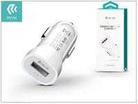 Devia Smart USB Car Charger szivargyújtós töltő adapter   5V 2 1A   white eladó