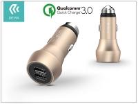 Devia Hammer Dual USB szivargyújtós töltő adapter   5V 3A   Qualcomm Quick Charge 3 0   champagne gold eladó