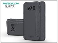 Samsung G955F Galaxy S8 Plus oldalra nyíló flipes tok   Nillkin Sparkle   fekete eladó