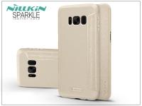 Samsung G955F Galaxy S8 Plus oldalra nyíló flipes tok   Nillkin Sparkle   gold eladó