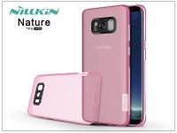 Samsung G955F Galaxy S8 Plus szilikon hátlap   Nillkin Nature   pink eladó