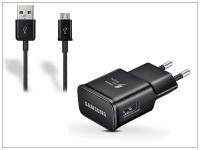 Samsung gyári USB hálózati töltő adapter  +  micro USB adatkábel   5V 2A   EP TA20EBE  +  ECC1DU4BBE black (ECO csomaglás) eladó