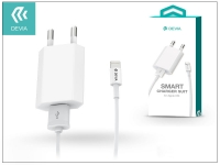 Apple iPhone 5 5S 5C SE 6S 6S Plus USB hálózati töltő adapter  +  lightning adatkábel   5V 1A   Devia Smart Charger Suit   white eladó