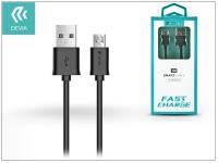 USB   micro USB adat  és töltőkábel 1 m es vezetékkel   Devia Smart Cable for Android 2 1   black eladó